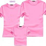 áo thun trơn màu hồng xmkn003