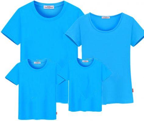 áo thun trơn màu xanh thiên thanh
