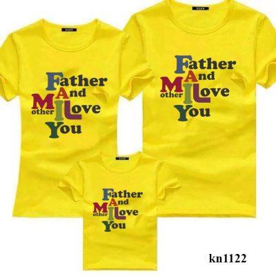 áo phông gia đình 3 người