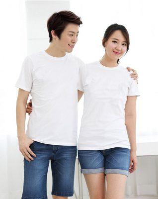 áo thun trắng trơn form rộng