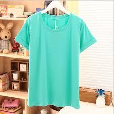áo thun trơn màu xanh ngọc