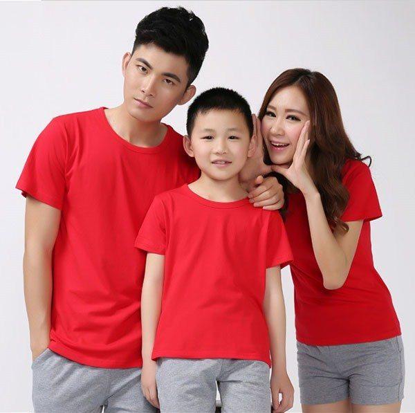 áo thun trơn màu đỏ