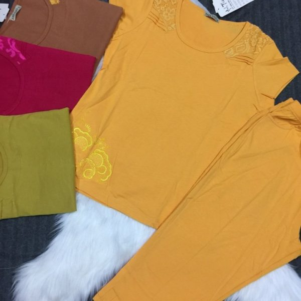 đồ bộ thun cotton nữ