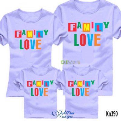 mẫu áo đồng phục gia đình