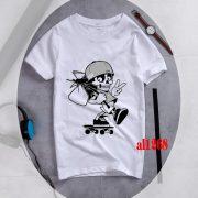 mẫu áo đồng phục in hình Boy Skull Chibi