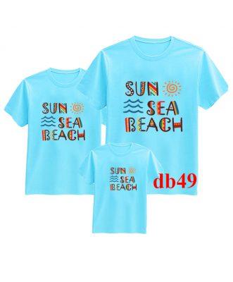 áo thun gia đình đi biển