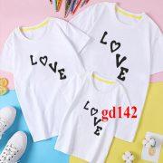 áo đồng phục gia đình đẹp in Love