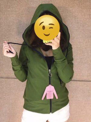 áo khoác thun nữ có nón