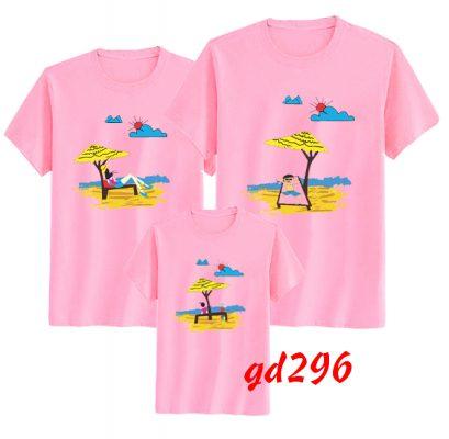 mẫu áo gia đình đi biển