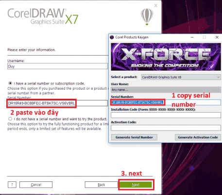 cài phần mềm CorelDraw X7 Full Crack