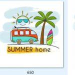 free vector hello summer [Share]