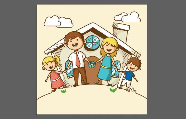 hình gia đình vector