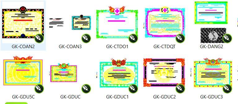 download mẫu giấy chứng nhận vector