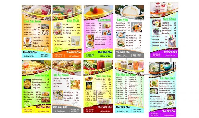 mẫu menu đẹp psd