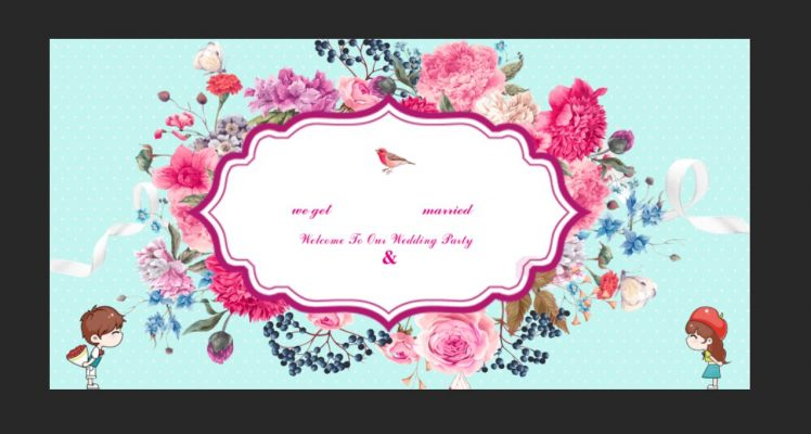 mẫu phông bạt đám cưới đẹp