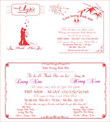 mẫu thiết kế thiệp cưới bằng corel