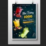 mẫu tờ rơi quảng cáo trà sữa [Share]