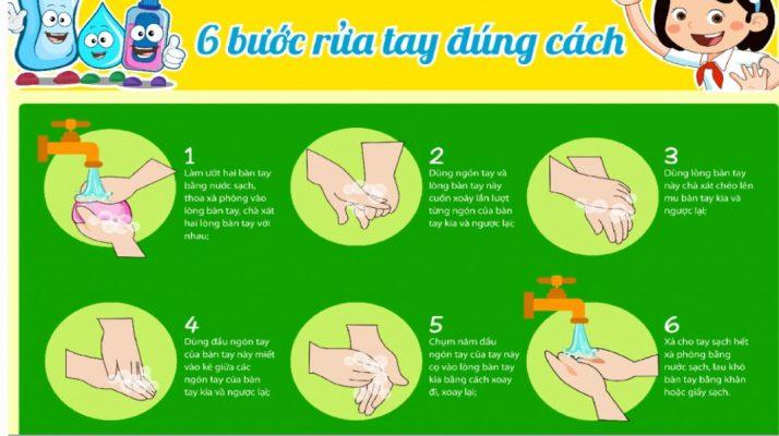 quy trình rửa tay vector