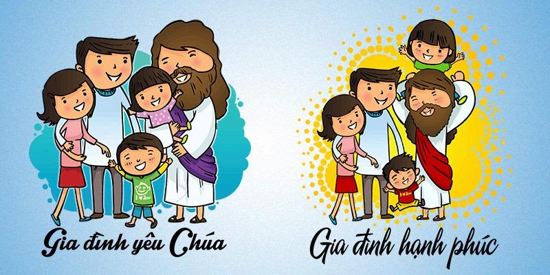 vector áo gia đình công giáo