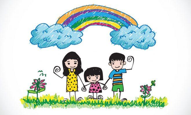 vector gia đình hạnh phúc