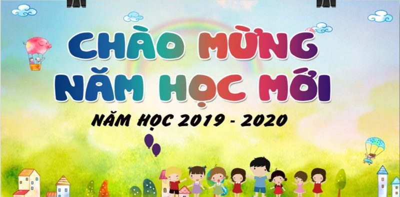 background khai giảng mầm non vector