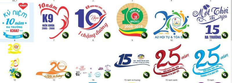 logo kỷ niệm ngày ra trường