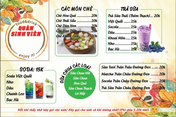 download mẫu menu đẹp